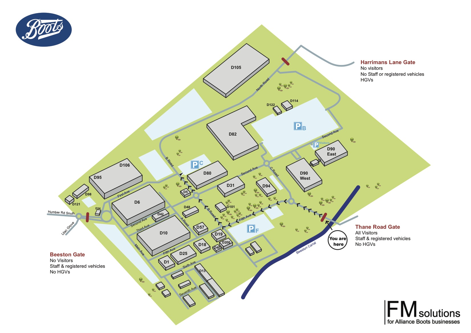In-Store Innovations Boots Site Map